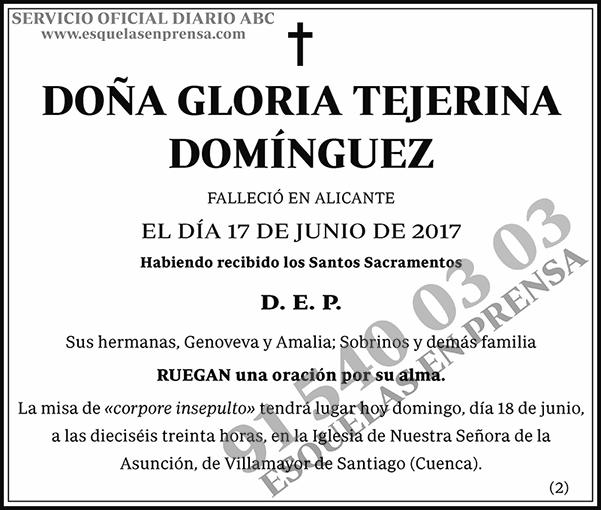 Gloria Tejerina Domínguez